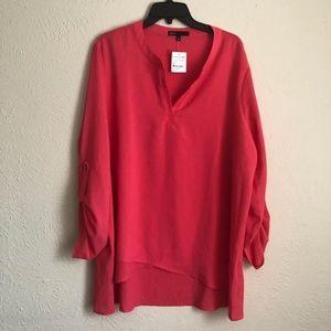 Orange dress blouse